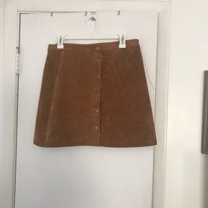Faux Suede Aline Skirt